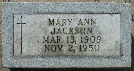O'ROURKE JACKSON, MARY ANN - Winnebago County, Iowa | MARY ANN O'ROURKE JACKSON