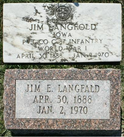 LANGFALD, JIM E. - Winnebago County, Iowa   JIM E. LANGFALD