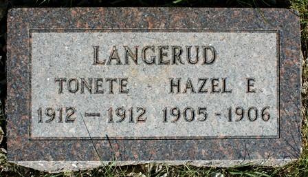 LANGERUD, HAZEL E. - Winnebago County, Iowa | HAZEL E. LANGERUD