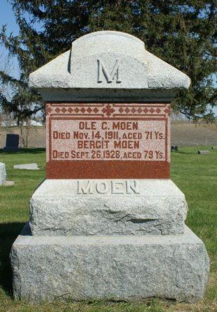 MOEN, BERGIT - Winnebago County, Iowa   BERGIT MOEN