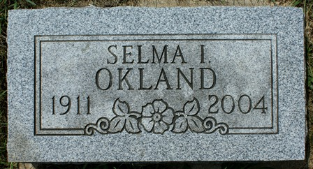 OKLAND, SELMA I. - Winnebago County, Iowa | SELMA I. OKLAND