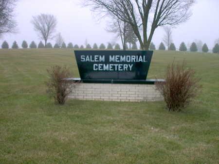 SALEM MEMORIAL, CEMETERY - Winnebago County, Iowa | CEMETERY SALEM MEMORIAL