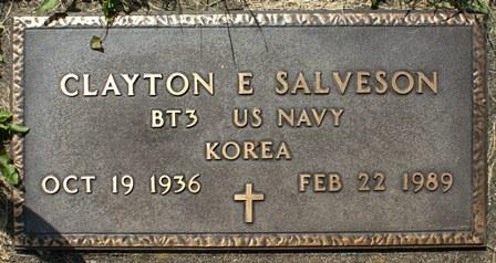 SALVESON, CLAYTON E. - Winnebago County, Iowa   CLAYTON E. SALVESON