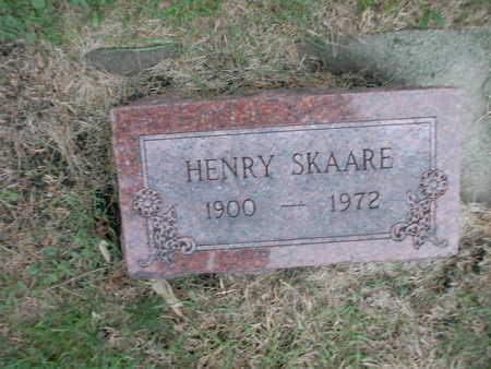 SKAARE, HENRY - Winnebago County, Iowa   HENRY SKAARE