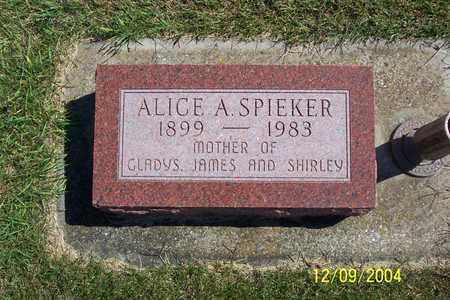 SPIEKER, ALICE A. - Winnebago County, Iowa | ALICE A. SPIEKER