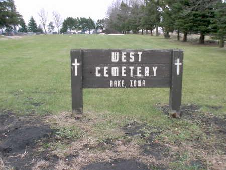 WEST LUTHERAN AKA WEST RAKE, CEMETERY - Winnebago County, Iowa | CEMETERY WEST LUTHERAN AKA WEST RAKE