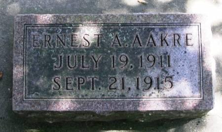 AAKRE, ERNEST A. - Winneshiek County, Iowa   ERNEST A. AAKRE