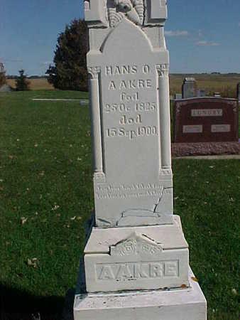AAKRE, HANS O. - Winneshiek County, Iowa   HANS O. AAKRE