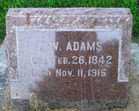 ADAMS, A. W. - Winneshiek County, Iowa | A. W. ADAMS