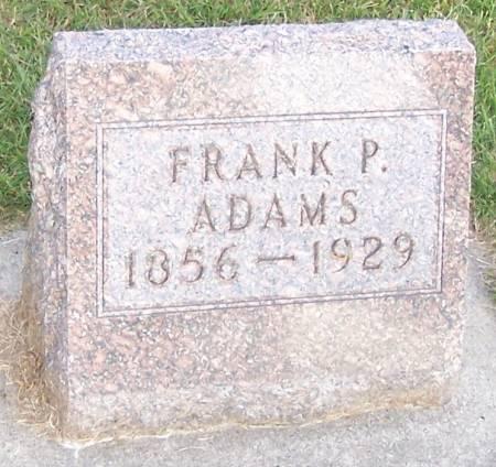 ADAMS, FRANK P - Winneshiek County, Iowa | FRANK P ADAMS