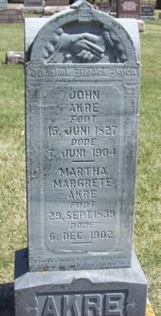 AKRE, JOHN - Winneshiek County, Iowa | JOHN AKRE