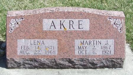 AKRE, MARTIN J - Winneshiek County, Iowa   MARTIN J AKRE