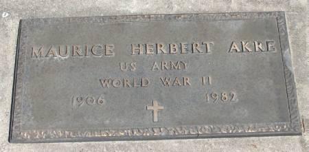 AKRE, MAURICE HERBERT - Winneshiek County, Iowa | MAURICE HERBERT AKRE