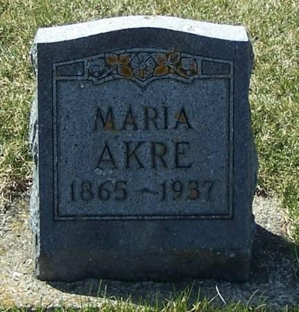 AKRE, MARIA - Winneshiek County, Iowa | MARIA AKRE