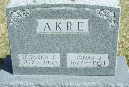AKRE, JONAS J - Winneshiek County, Iowa   JONAS J AKRE