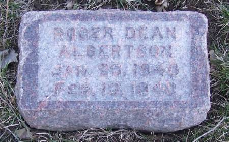 ALBERTSON, ROGER DEAN - Winneshiek County, Iowa   ROGER DEAN ALBERTSON