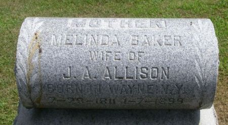 BAKER ALLISON, MELINDA - Winneshiek County, Iowa | MELINDA BAKER ALLISON