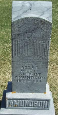 AMUNDSON, ANNA T - Winneshiek County, Iowa   ANNA T AMUNDSON
