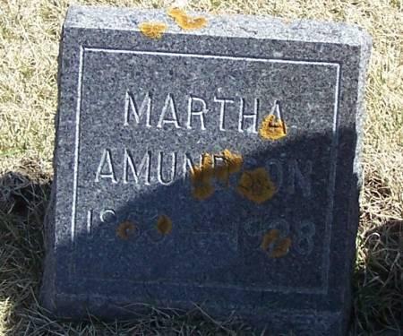 AMUNDSON, MARTHA - Winneshiek County, Iowa   MARTHA AMUNDSON