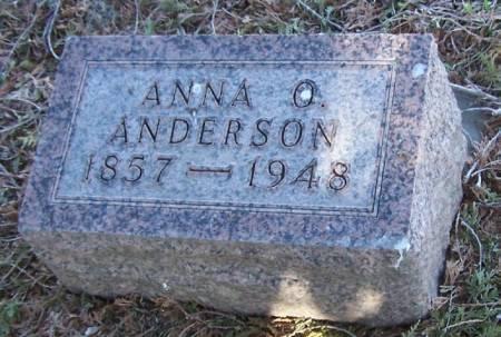 ANDERSON, ANNA O - Winneshiek County, Iowa   ANNA O ANDERSON