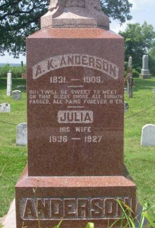 ANDERSON, JULIA - Winneshiek County, Iowa | JULIA ANDERSON
