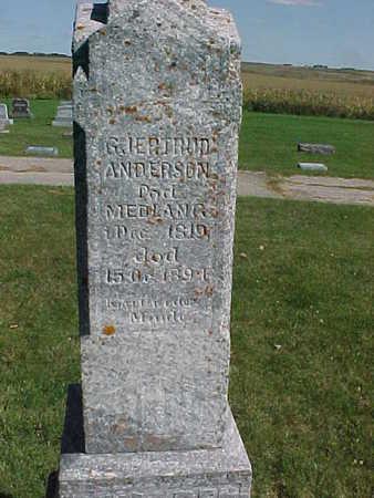 ANDERSON, GJERTRUD - Winneshiek County, Iowa | GJERTRUD ANDERSON