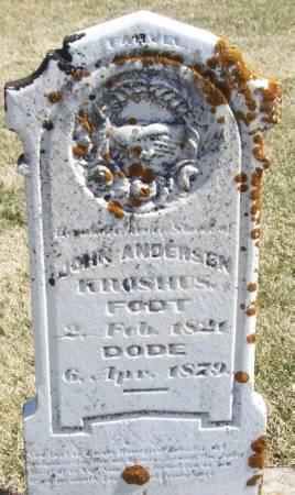 KROSHUS, JOHN ANDERSON - Winneshiek County, Iowa   JOHN ANDERSON KROSHUS