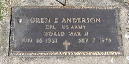 ANDERSON, OREN E - Winneshiek County, Iowa   OREN E ANDERSON