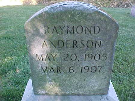 ANDERSON, RAYMOND - Winneshiek County, Iowa   RAYMOND ANDERSON