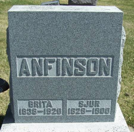 ANFINSON, BRITA - Winneshiek County, Iowa | BRITA ANFINSON