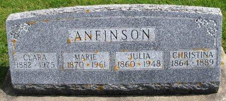 ANFINSON, CLARA - Winneshiek County, Iowa | CLARA ANFINSON