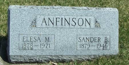ANFINSON, SANDER B - Winneshiek County, Iowa | SANDER B ANFINSON