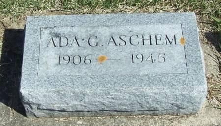 ASCHEM, ADA G - Winneshiek County, Iowa   ADA G ASCHEM