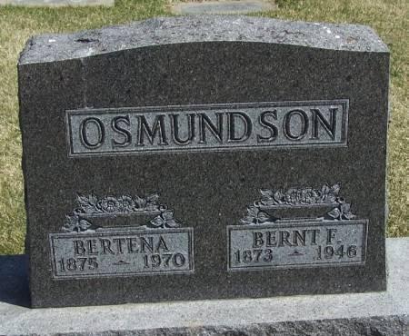OSMUNDSON, BERNT F - Winneshiek County, Iowa | BERNT F OSMUNDSON
