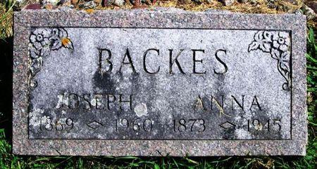 BACKES, ANNA - Winneshiek County, Iowa   ANNA BACKES
