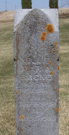 BAGNE, NELLIE MARIA - Winneshiek County, Iowa | NELLIE MARIA BAGNE