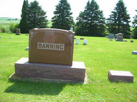BANNING, NATHANIEL FAMILY STONE - Winneshiek County, Iowa   NATHANIEL FAMILY STONE BANNING