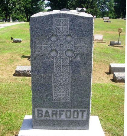 BARFOOT, ALBERT F. FAMILY STONE - Winneshiek County, Iowa | ALBERT F. FAMILY STONE BARFOOT