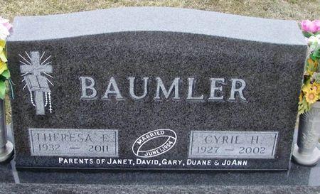 LANSING BAUMLER, THERESA ELIZABETH - Winneshiek County, Iowa   THERESA ELIZABETH LANSING BAUMLER