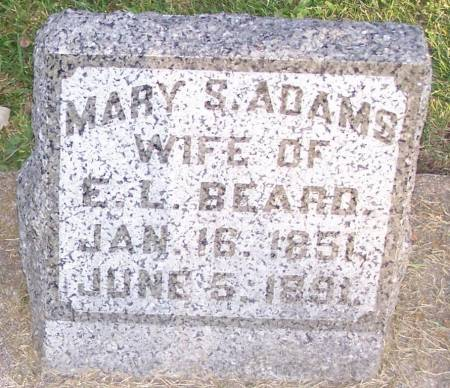 ADAMS BEARD, MARY S - Winneshiek County, Iowa | MARY S ADAMS BEARD