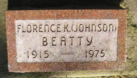 JOHNSON BEATTY, FLORENCE K. - Winneshiek County, Iowa | FLORENCE K. JOHNSON BEATTY