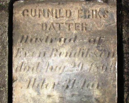 BENDIKSEN, GUNNILD ERIKSDATTER - Winneshiek County, Iowa | GUNNILD ERIKSDATTER BENDIKSEN