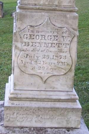 BENNETT, GEORGE W. - Winneshiek County, Iowa | GEORGE W. BENNETT