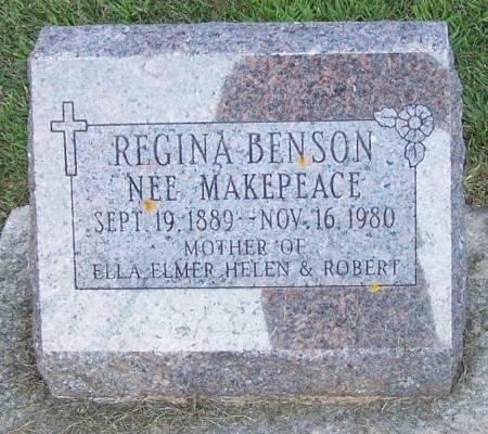 MAKEPEACE BENSON, REGINA - Winneshiek County, Iowa | REGINA MAKEPEACE BENSON