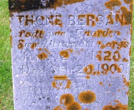 BERGAN, THONE - Winneshiek County, Iowa   THONE BERGAN