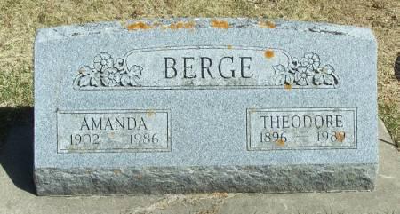 BERGE, THEODORE - Winneshiek County, Iowa | THEODORE BERGE