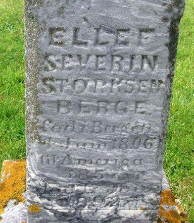 BERGE, ELLEF SEVERIN STORKSEN - Winneshiek County, Iowa | ELLEF SEVERIN STORKSEN BERGE