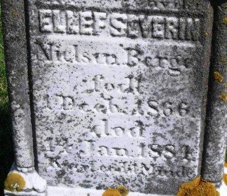 BERGE, ELLEF SEVERIN NIELSON - Winneshiek County, Iowa | ELLEF SEVERIN NIELSON BERGE