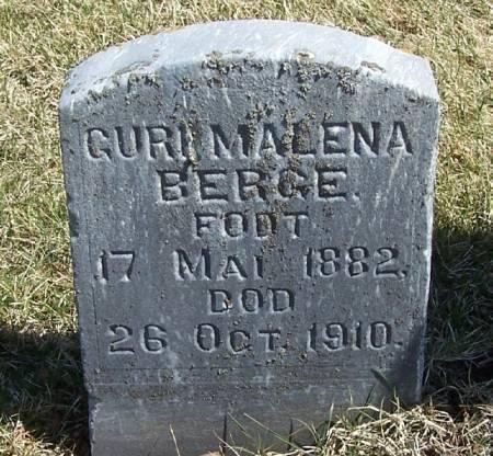 BERGE, GURI MALENA - Winneshiek County, Iowa   GURI MALENA BERGE