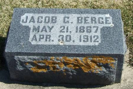 BERGE, JACOB G - Winneshiek County, Iowa | JACOB G BERGE